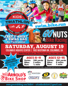 Go Nuts Columbus Kids Triathalon @ Columbus Aquatic Center | Columbus | Georgia | United States